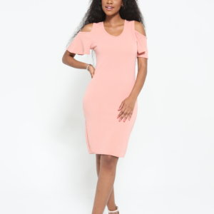 LADIES COLD SHOULDER DRESS