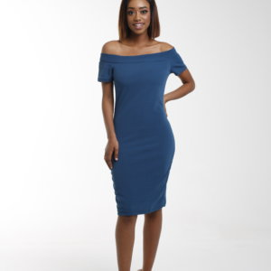 LADIES BARDOT BODYCON DRESS